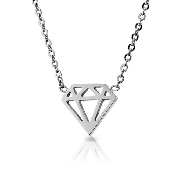 簡約鑽石造型項鍊