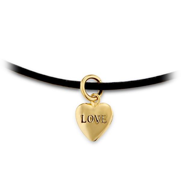 LOVE愛心造型皮繩頸鍊