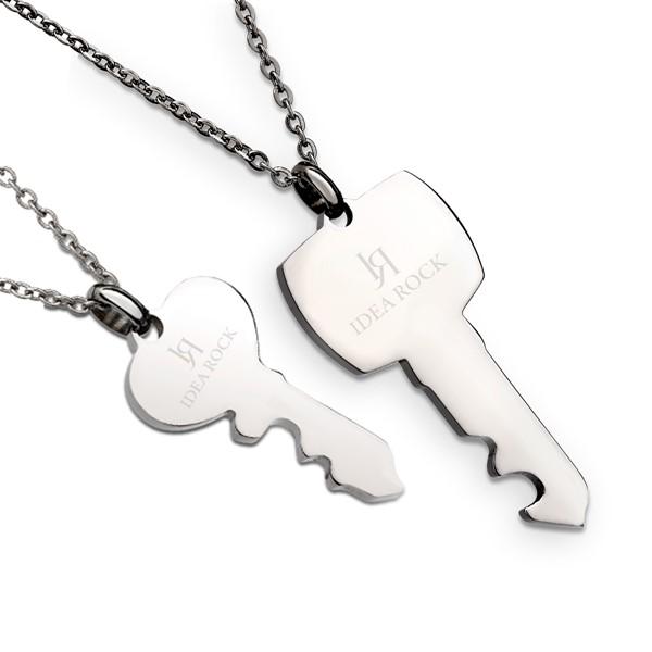愛的心鑰情侶對鍊/一對販售