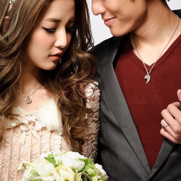 相愛的愛心組合式情侶項鍊-男
