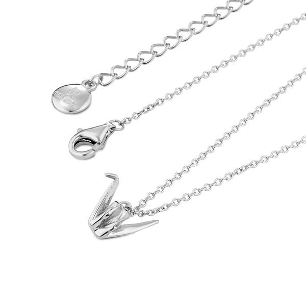 幸運立體紙鶴 純銀 女款項鍊飾品