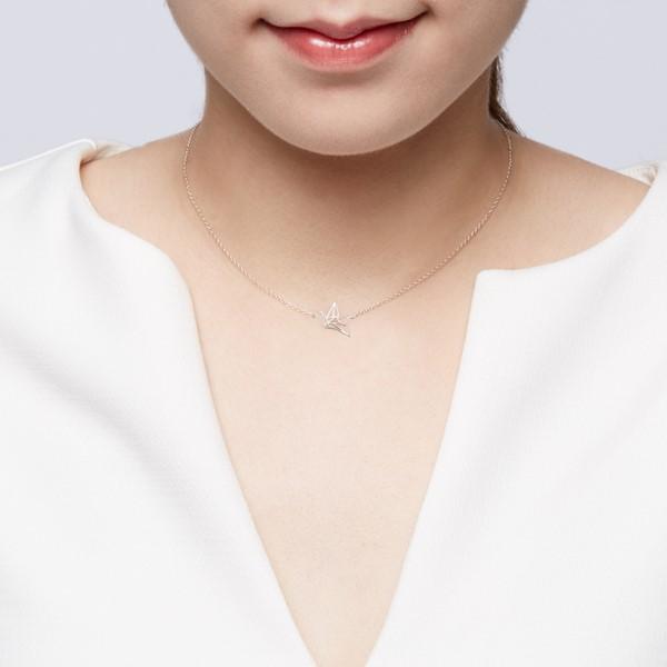 祈福紙鶴 純銀 女款項鍊飾品