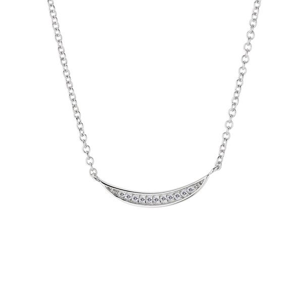 月亮的微笑 純銀 女款項鍊飾品