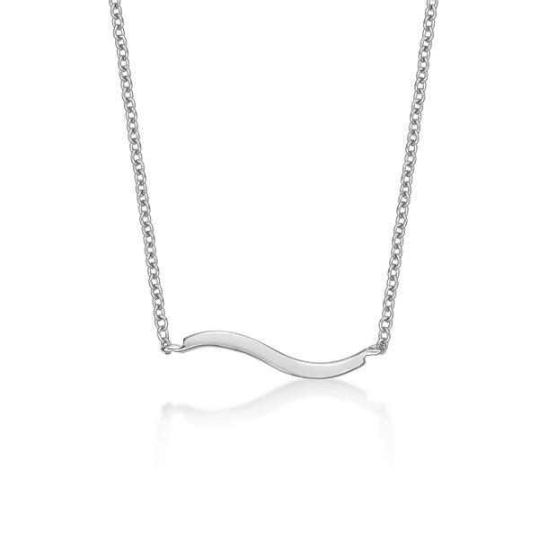 簡約流線線條 純銀 女款項鍊飾品
