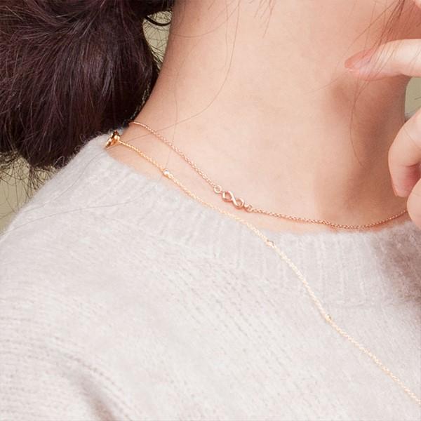 秘密約定-無限簡約 純銀女款項鍊飾品 伴娘閨密紀念禮物