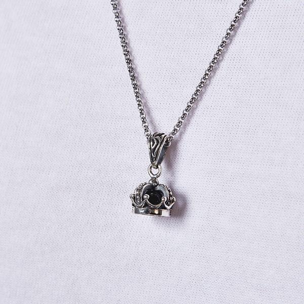 個性皇冠硫化 純銀 男款項鍊飾品