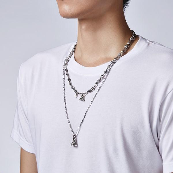 炫黑風神鈴個性 純銀 男款項鍊飾品