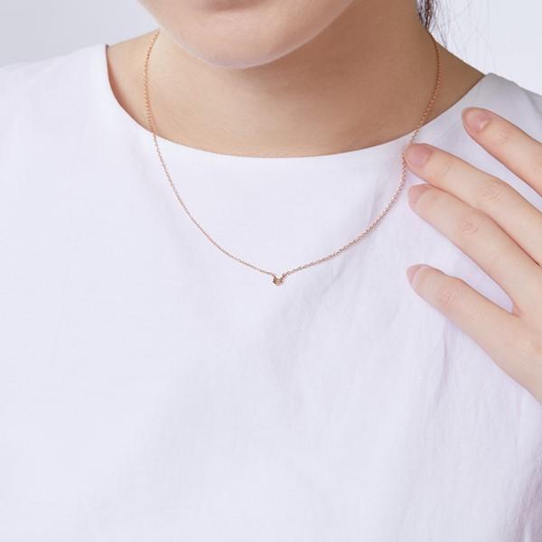 邱比特氣質簡約 純銀 女款項鍊飾品