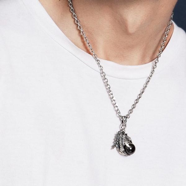 鳳凰龍珠 純銀 男款項鍊飾品