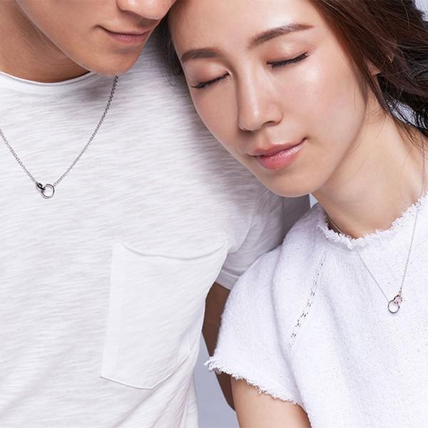 圍繞幸福愛情 純銀 情侶紀念對鍊/項鍊