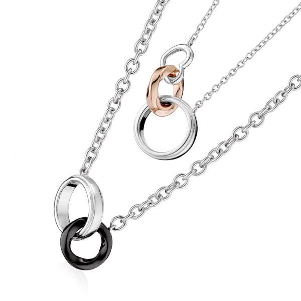 彩色美滿愛情 純銀 情侶紀念對鍊/項鍊