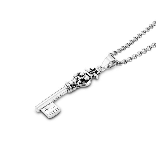 真實鑰匙造型硫化項鍊