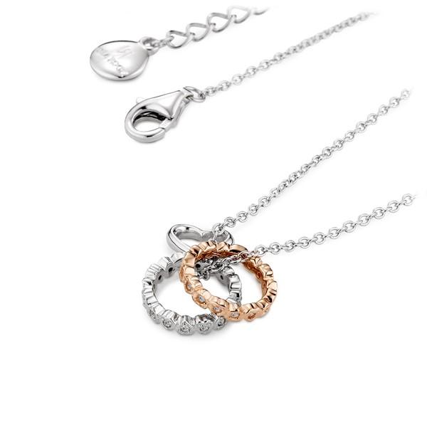 流轉彩色美滿愛情 純銀 女款情侶紀念項鍊/對鍊