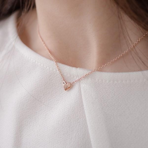 心中有愛 純銀 女款情侶紀念對鍊/項鍊