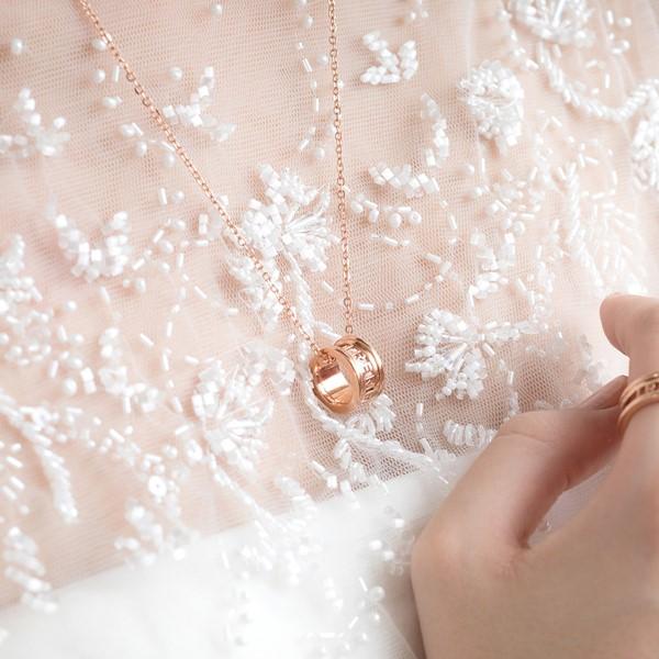 雋刻的記憶 純銀 女款情侶紀念對鍊/項鍊