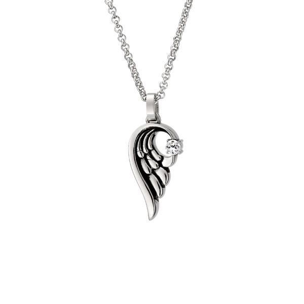 愛之翼單鑽 純銀 女款項鍊飾品