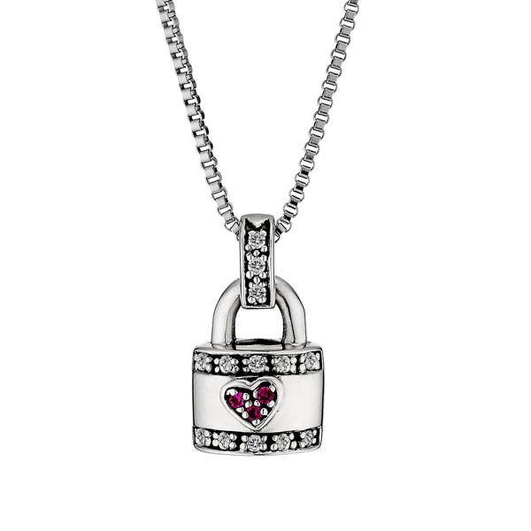 戀人密碼鎖純銀 純銀 女款情侶紀念項鍊/對鍊