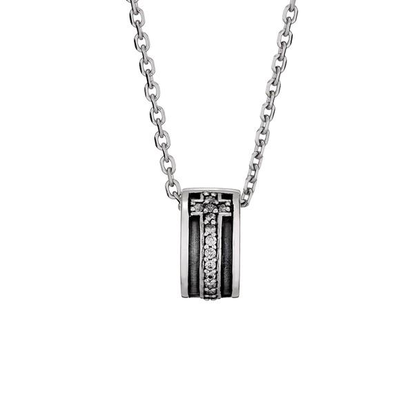 個性十字架滿鑽硫化項鍊