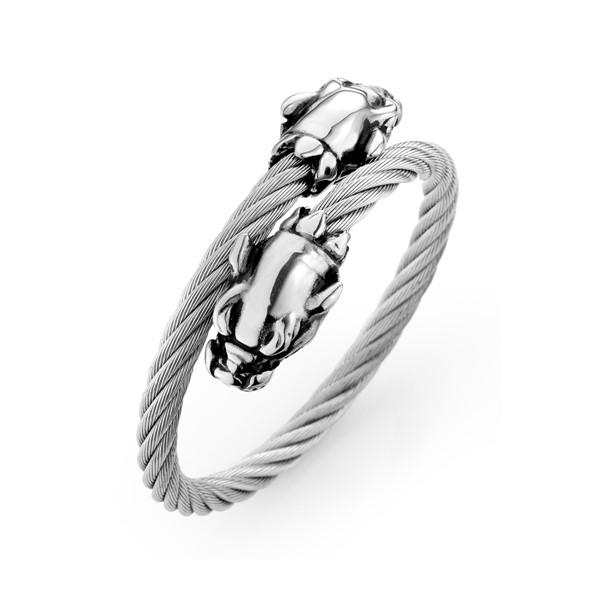 粗獷豹造型手環