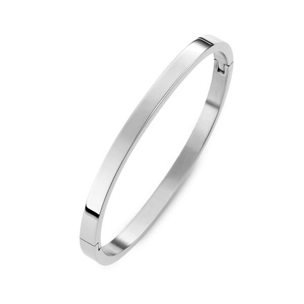 弧形亮面刻字西德鋼手環飾品 伴娘閨密紀念禮物