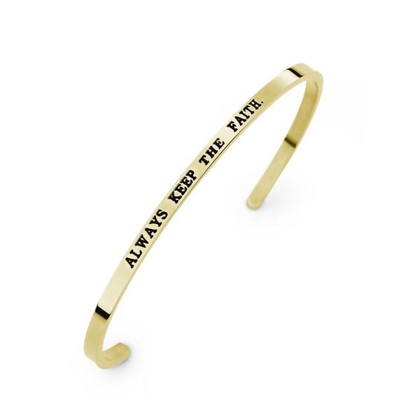 秘密約定-Always keep the faith亮面手鍊/對鍊 刻字西德鋼飾品 伴娘閨密紀念禮物