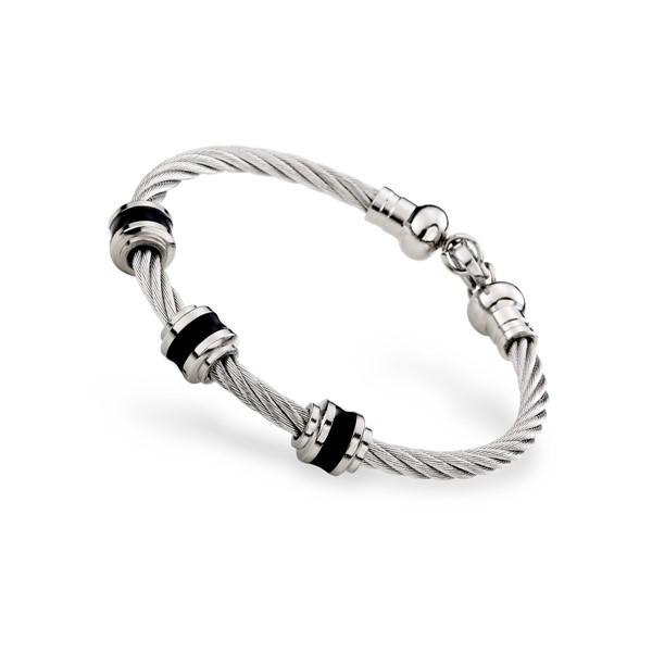 帥氣鋼索造型成熟定番款手環