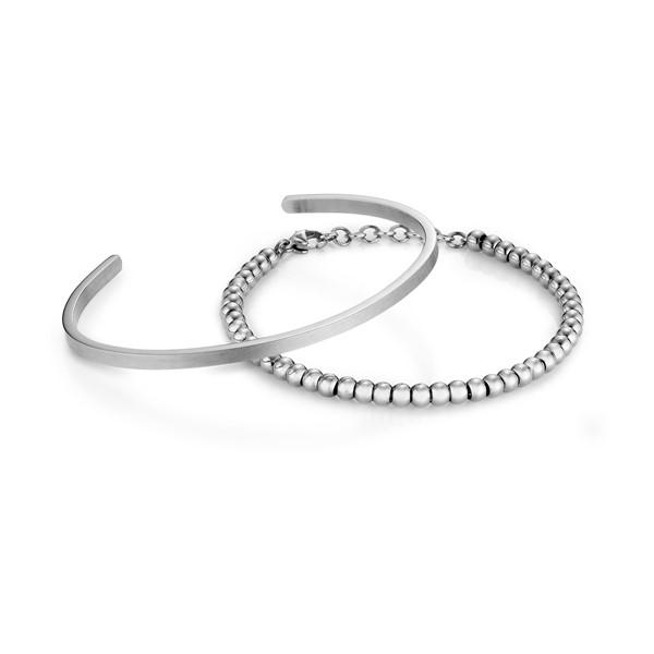 簡約素面圓滿鍊環組-女