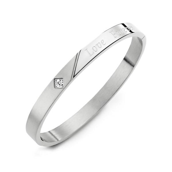 愛無止盡典雅單鑽情人手環/一對販售