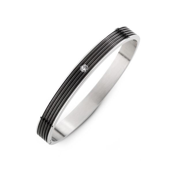 清新條紋款  刻字西德鋼 情侶紀念手環/手鍊