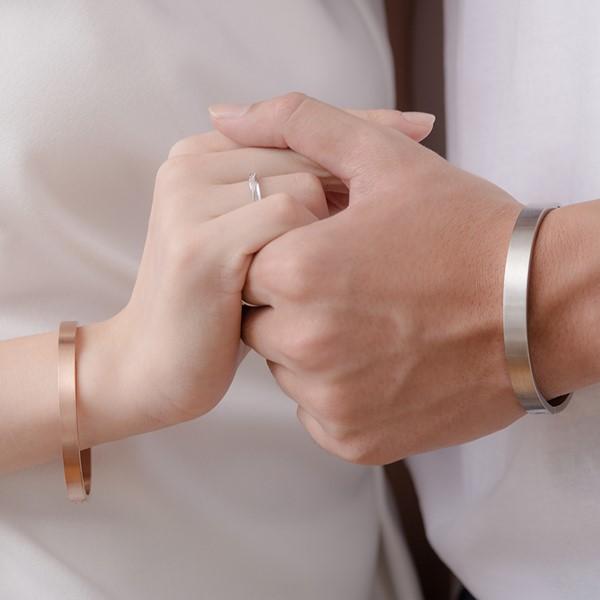 堅定的愛西德鋼情侶手環/一對販售