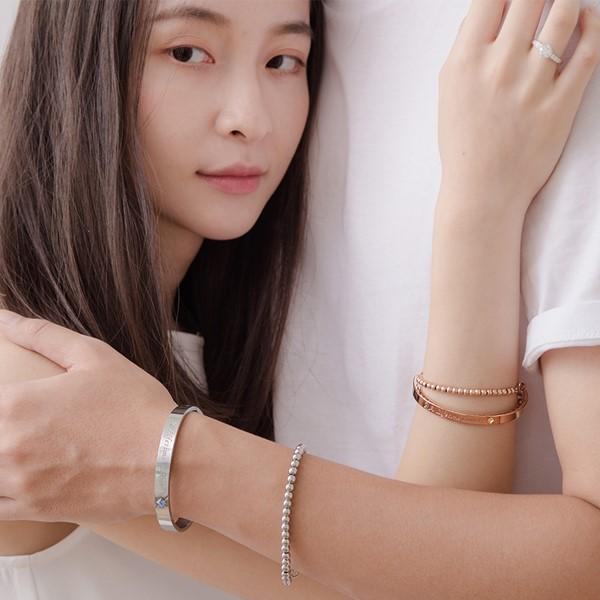 愛一生鋯石情侶手環