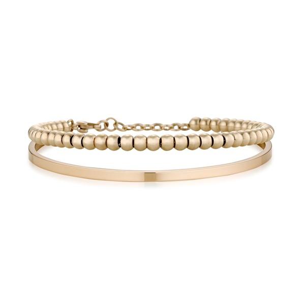 簡約素面圓滿情侶手環