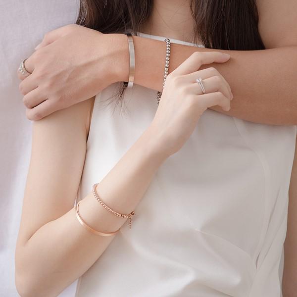 簡約素面圓滿情侶手環/一對販售