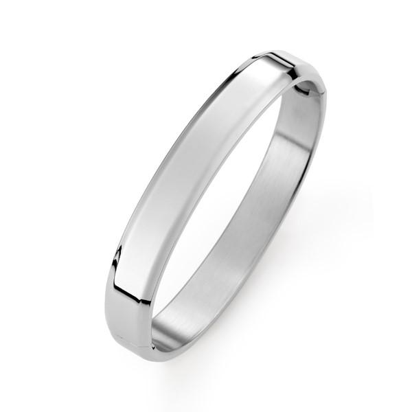 純色圓弧手環-男