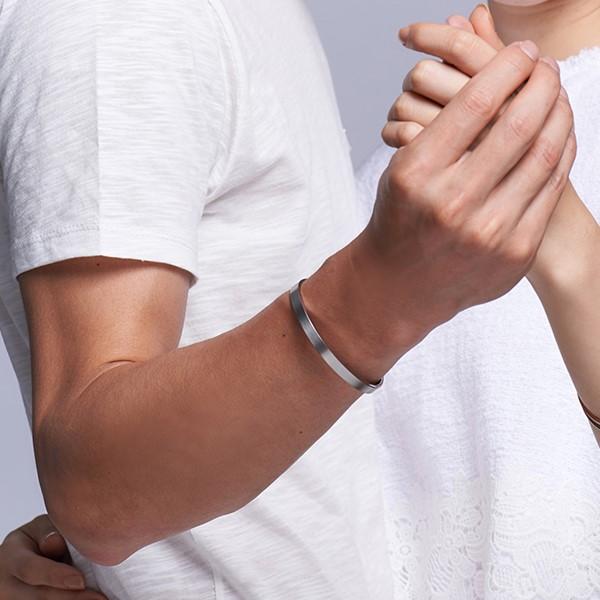 刻字秘密紀念 西德鋼 男款情侶紀念手環/鍊