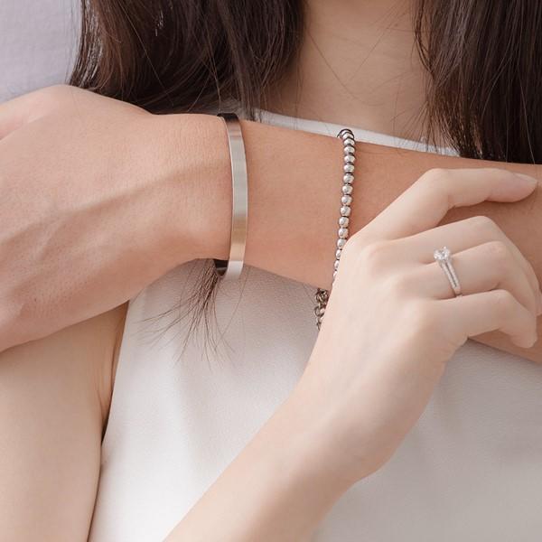 簡約素面圓滿鍊環組 西德鋼 男款情侶紀念手環/鍊