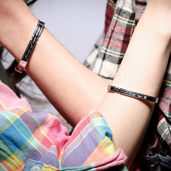 經典時尚方型造型手環-男