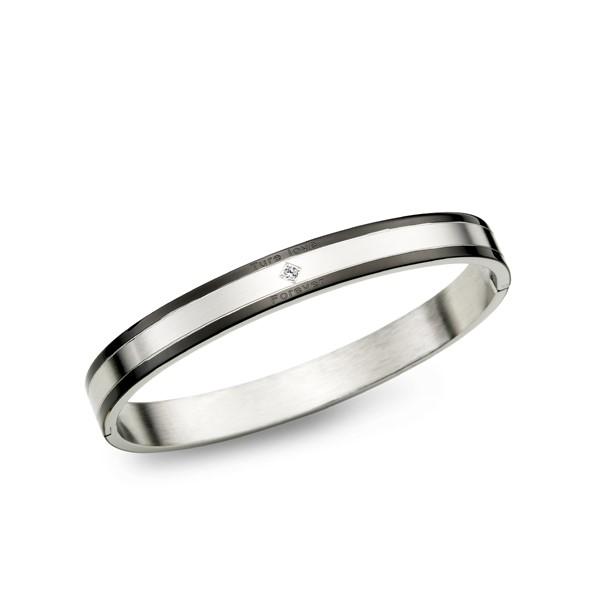 真愛典雅方型單鑽手環