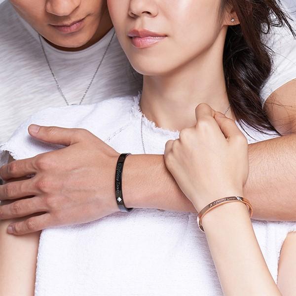 完美情人典雅 西德鋼 男款情侶紀念手環/鍊