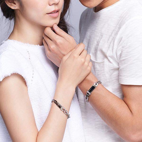 精緻時尚浪漫星海 西德鋼 女款情侶紀念手環/鍊