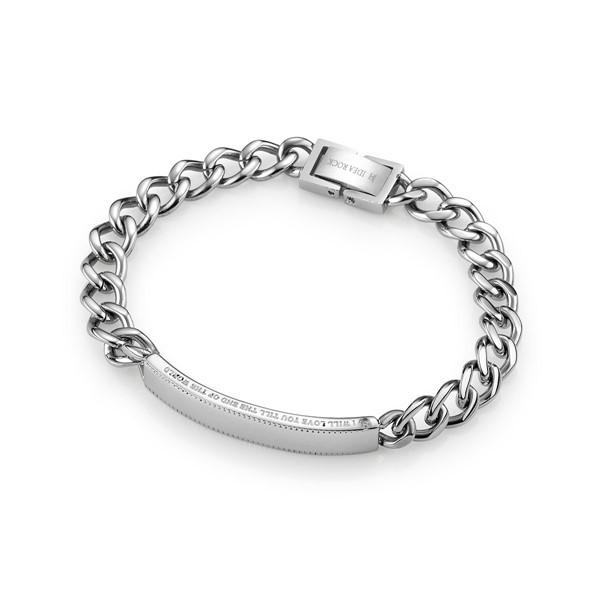 愛你直到世界盡頭 西德鋼 女款情侶紀念手環/鍊