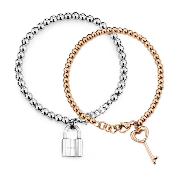 點滴意象-真愛之鎖串珠 西德鋼 情侶紀念手環/手鍊