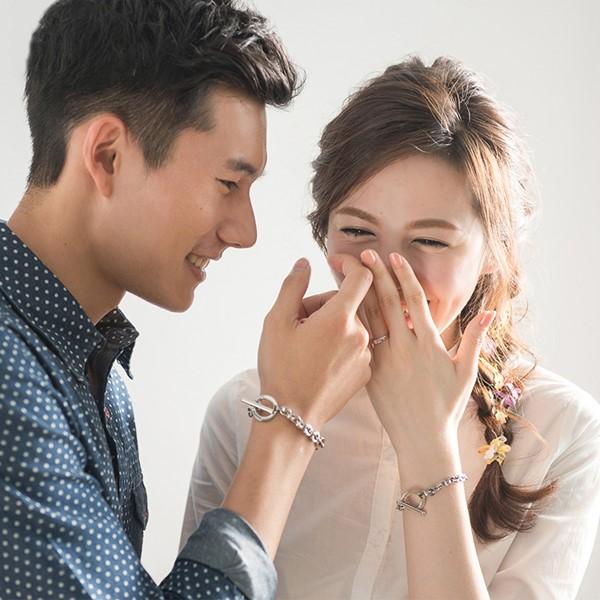 愛情約定T扣 西德鋼 男款情侶紀念手環/鍊
