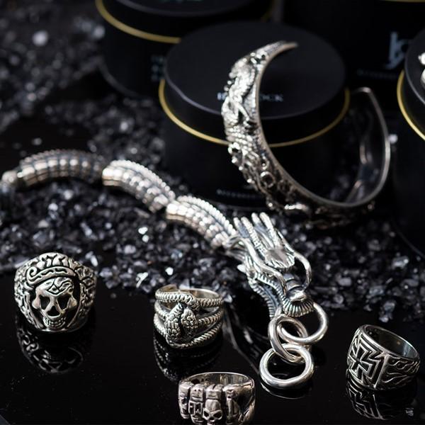 地獄霸主 純銀 男款手環/手鍊飾品