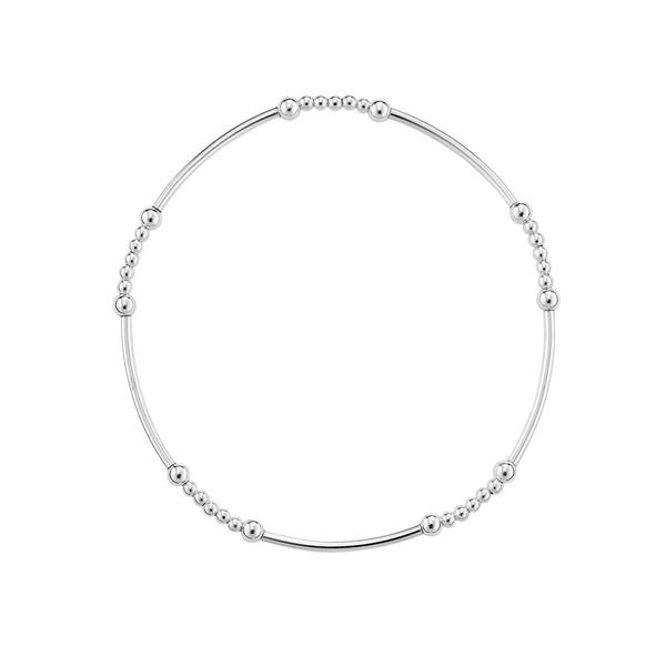 大珠小珠串珠 純銀 女款手環/手鍊飾品