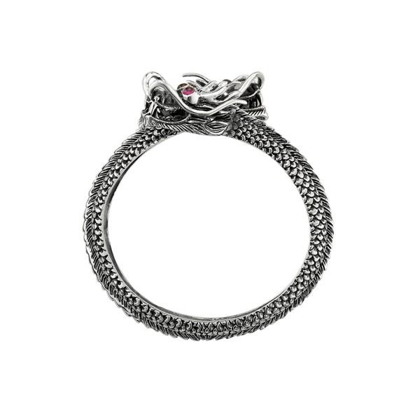 雙龍爭鬥硫化 純銀 男款手環/手鍊飾品