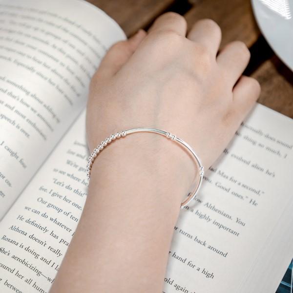 記憶的淚滴串珠 純銀 女款手環/手鍊飾品