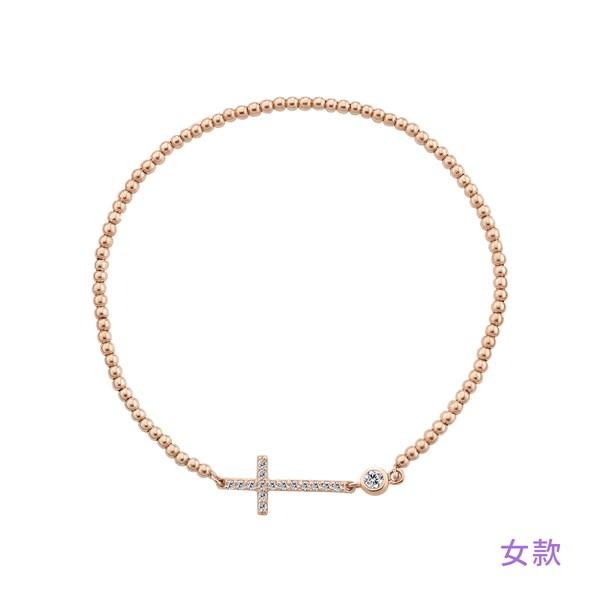不變的誓言串珠純銀手鍊-女款