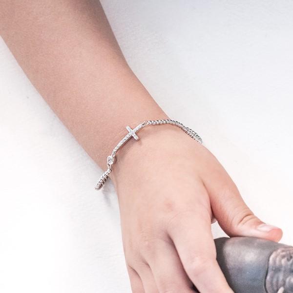 不變的誓言串珠純銀手鍊-兒童款