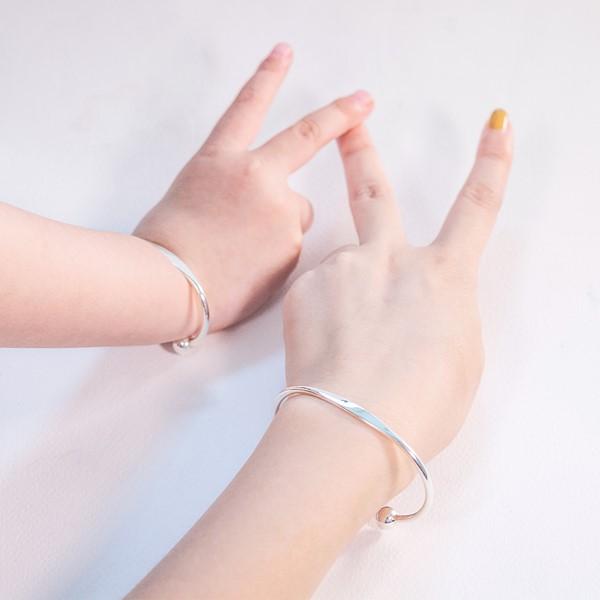 手心的溫度純銀活圍手環-兒童款